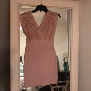 NWT Medium pink Bebe bandage dress